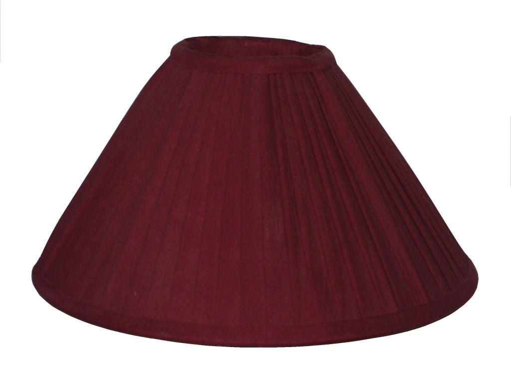 abat jour pliss rouge autrefois decolux. Black Bedroom Furniture Sets. Home Design Ideas